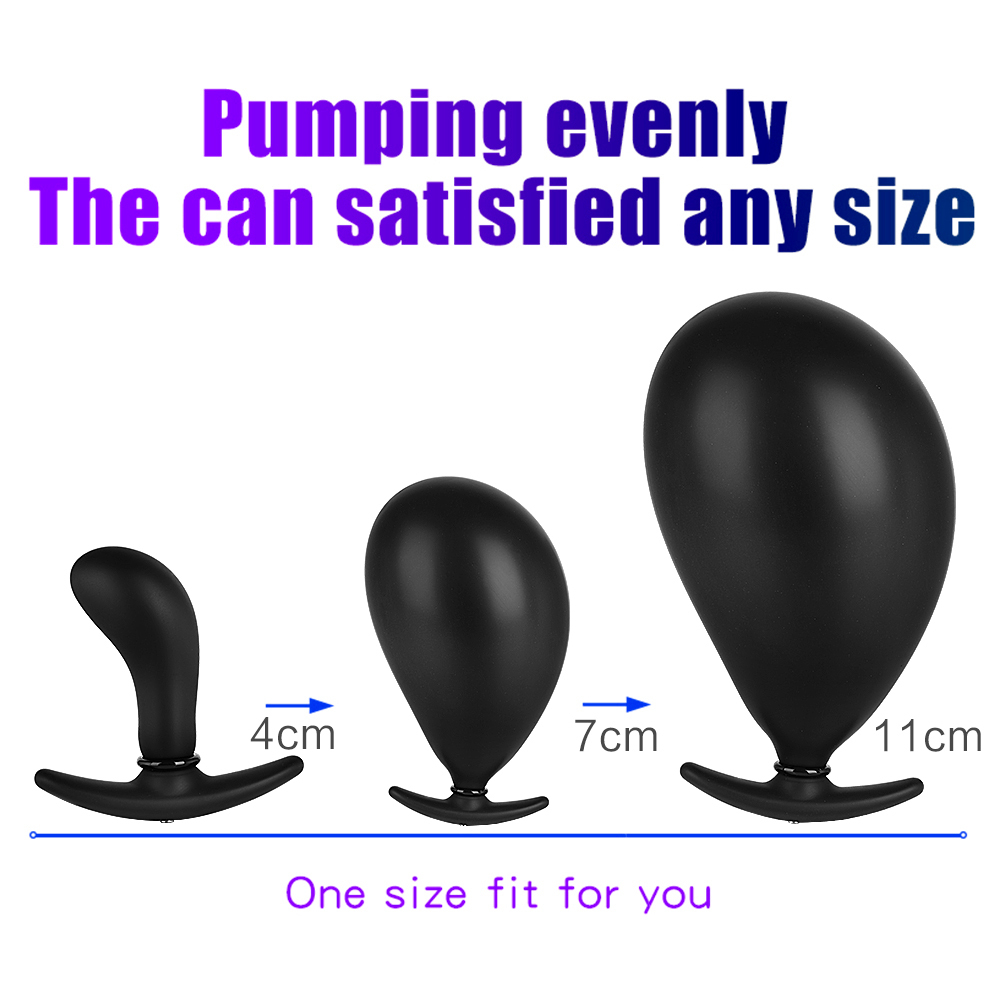 Desgaste Desgaste Inflável Anal Plug Butt Dilator G-spot Estimulador Masturbador Próstata Massageador Aberto Brinquedo Do Sexo Anal Para Mulheres Homens Y19052403