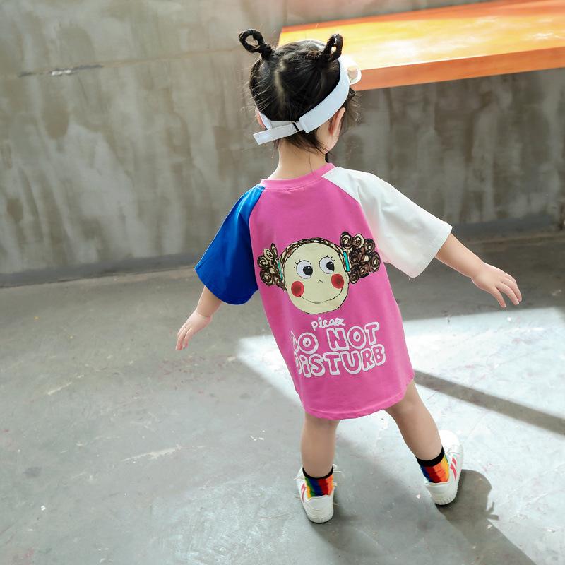 Walking Africa Sunset T-Shirts Childrens Girls Short Sleeve Ruffles Shirt Tee for 2-6T