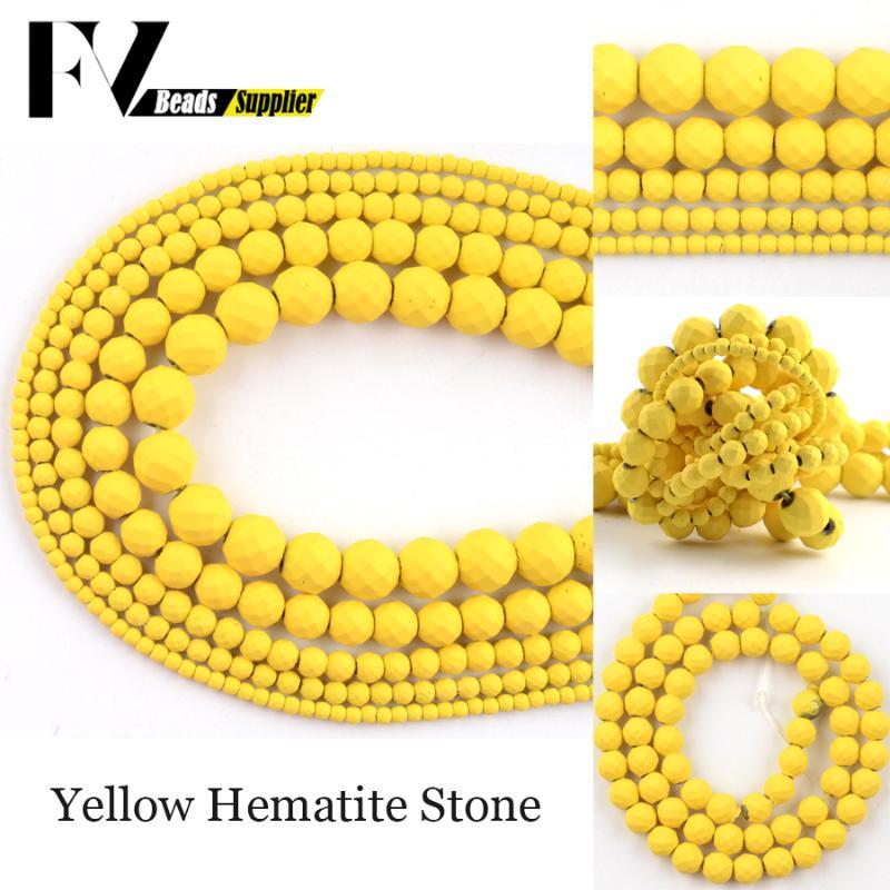 gelbe Natur Edelstein Kette Gelbachat Kette in Kugelform