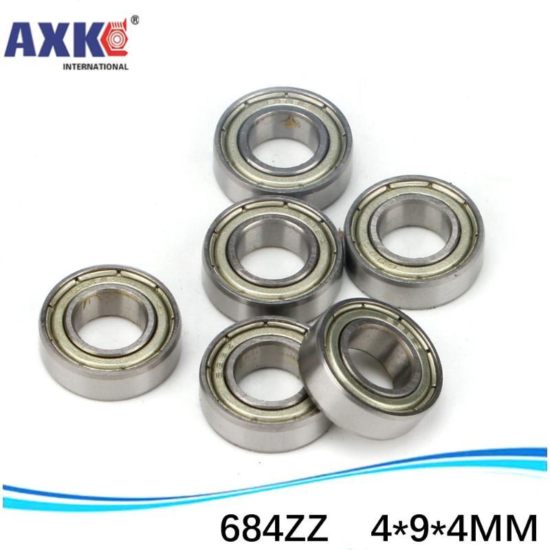 Rubber Sealed Ball Bearing Bearings MR74RS 4x7x2.5 mm 10Pcs BLACK MR74-2RS