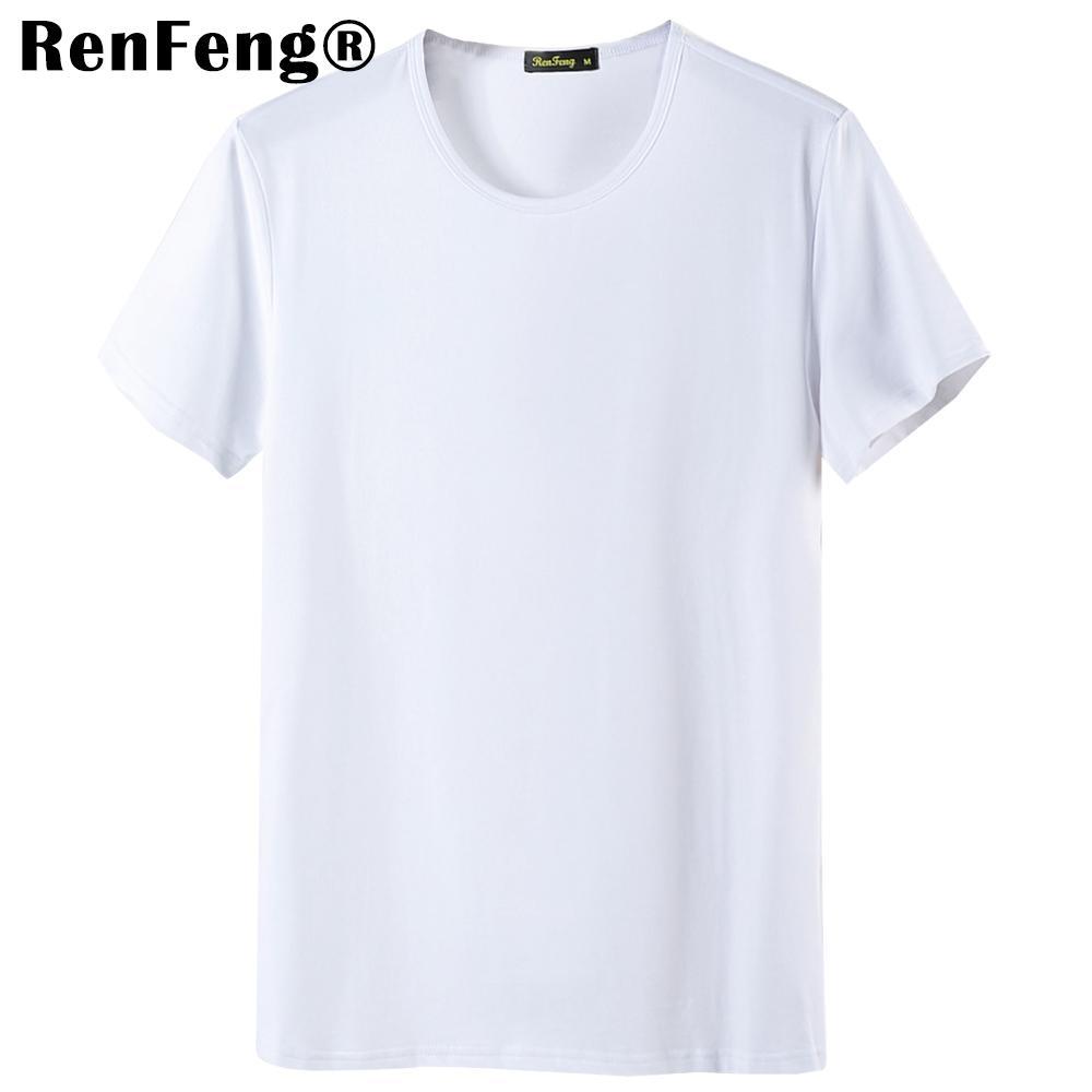 2018 Cool T Shirt Men 95% Bamboo Fiber Hip Hop Basic Blank White T-shirt For Mens Fashion Tshirt Summer Top Tee Tops Plain Black (4)