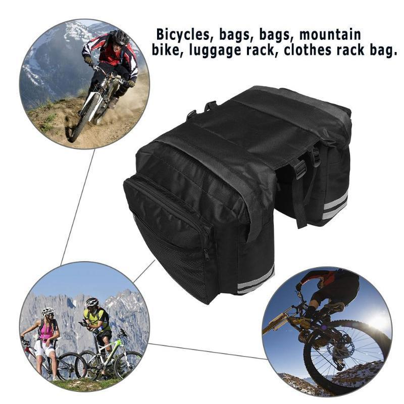 Mtb Mountain Bicycle Bags Bike Double Side Rear Rack Bag Tail Seat Trunk Bag Pannier Bag Bike Accessories For Cycling Activities