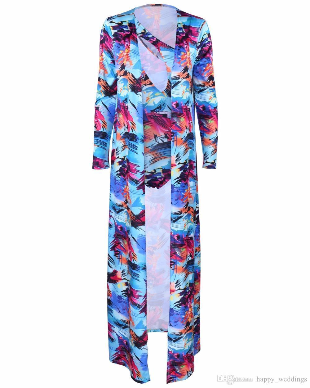 Dresses Boho Style Summer Tops For Women Tracksuit Set Printing Track Suit Women Beach Two Piece Outfit