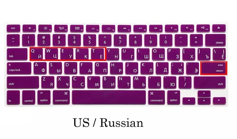 EU US Soft Silicon For Macbook Air 13 A1466 Keyboard Cover Russian Language Cover For Macbook Air 13 Retina13 Keyboard Cover (9)