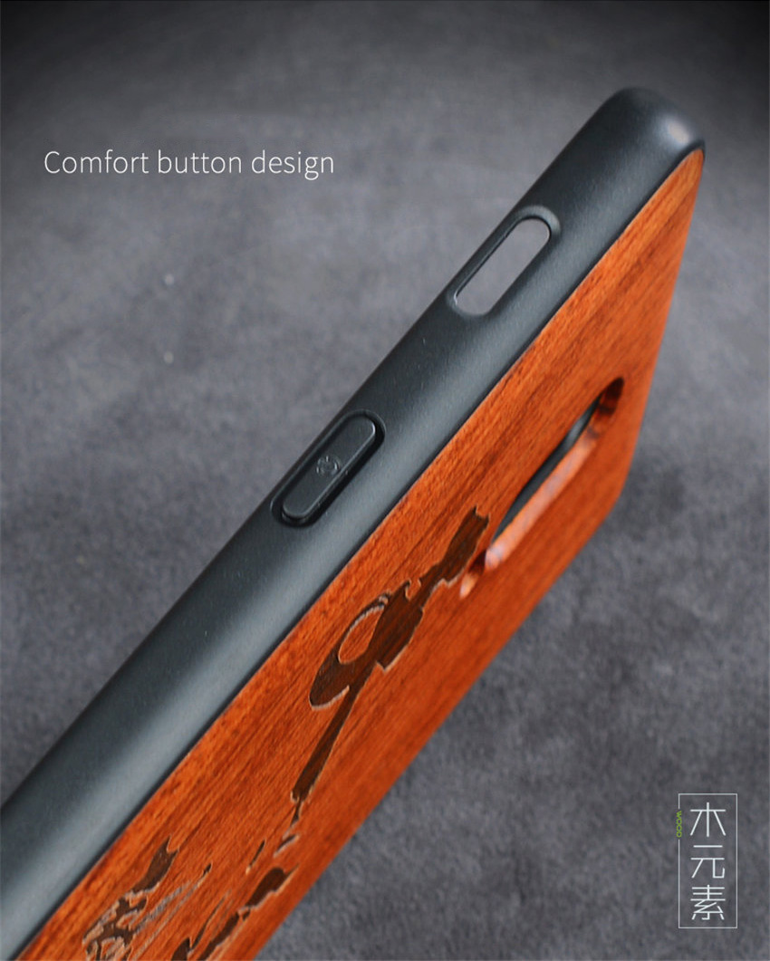 Oneplus 6t Case Boogic Original Real Wood funda Oneplus 6T Rosewood TPU Shockproof Back Cover Phone Shell One plus 6T case (6)