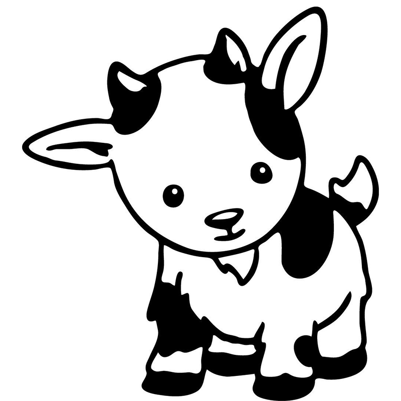 BILLY GOAT HEART Vinyl Decal Sticker Window Wall Bumper Farm Animal Cute Love