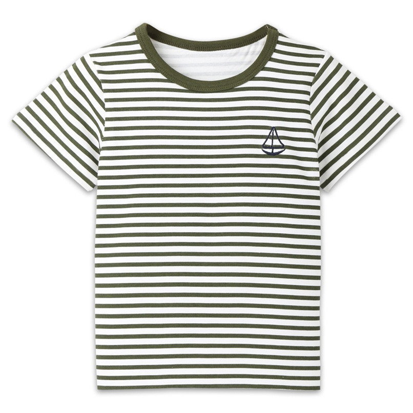 Summer Baby Boy Girl Tops And Tees Children Kids Boy Girl Short Sleeve Striped Top T-shirt Clothes Baby Boy Girl Clothes JE13#F (2)