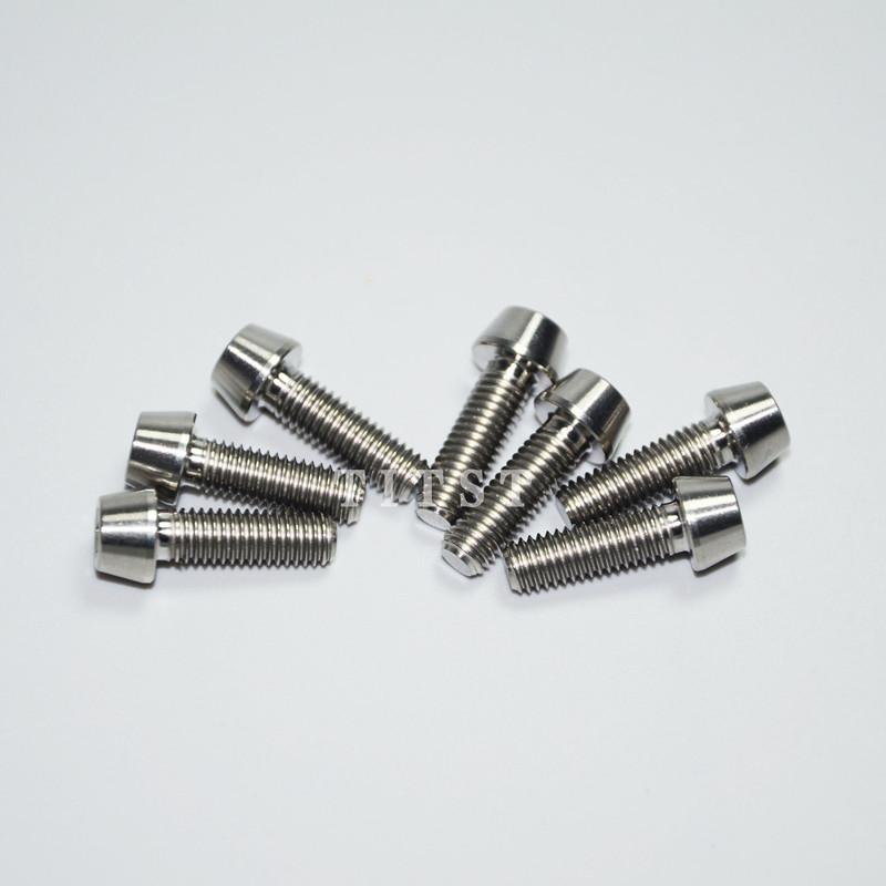 Ti Bolts For Stem /& Headset 7 pcs Blue Titanium M5 x 16mm - 6 /& M6 x 35mm