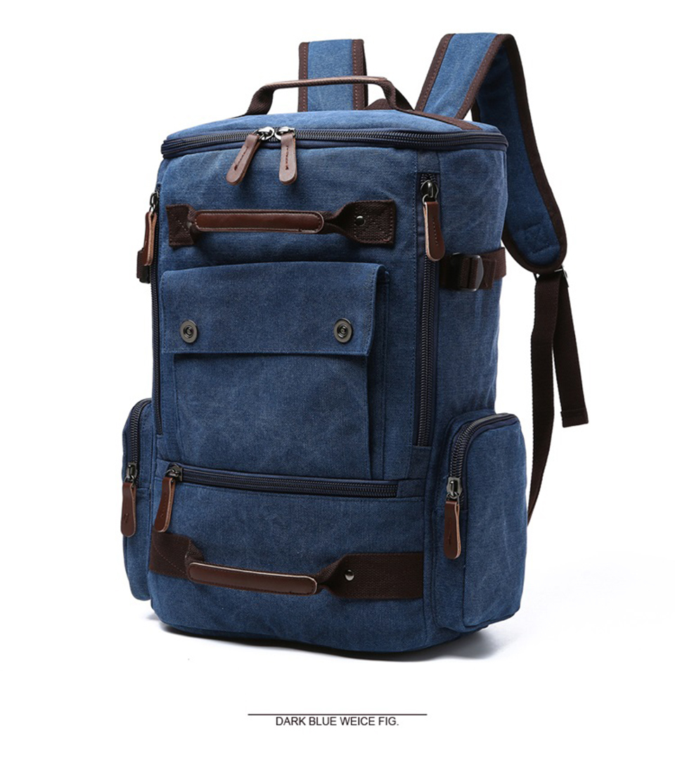 2 Canvas Backpack 15.6