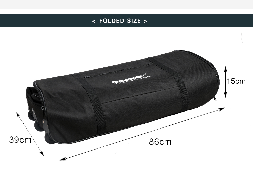 Rhinowalk Folding Bicycle Storage Bag Oxford Wear-resisting Luggage Cases for 20-22 Inch Folding Bike Electric Vehicles (10)