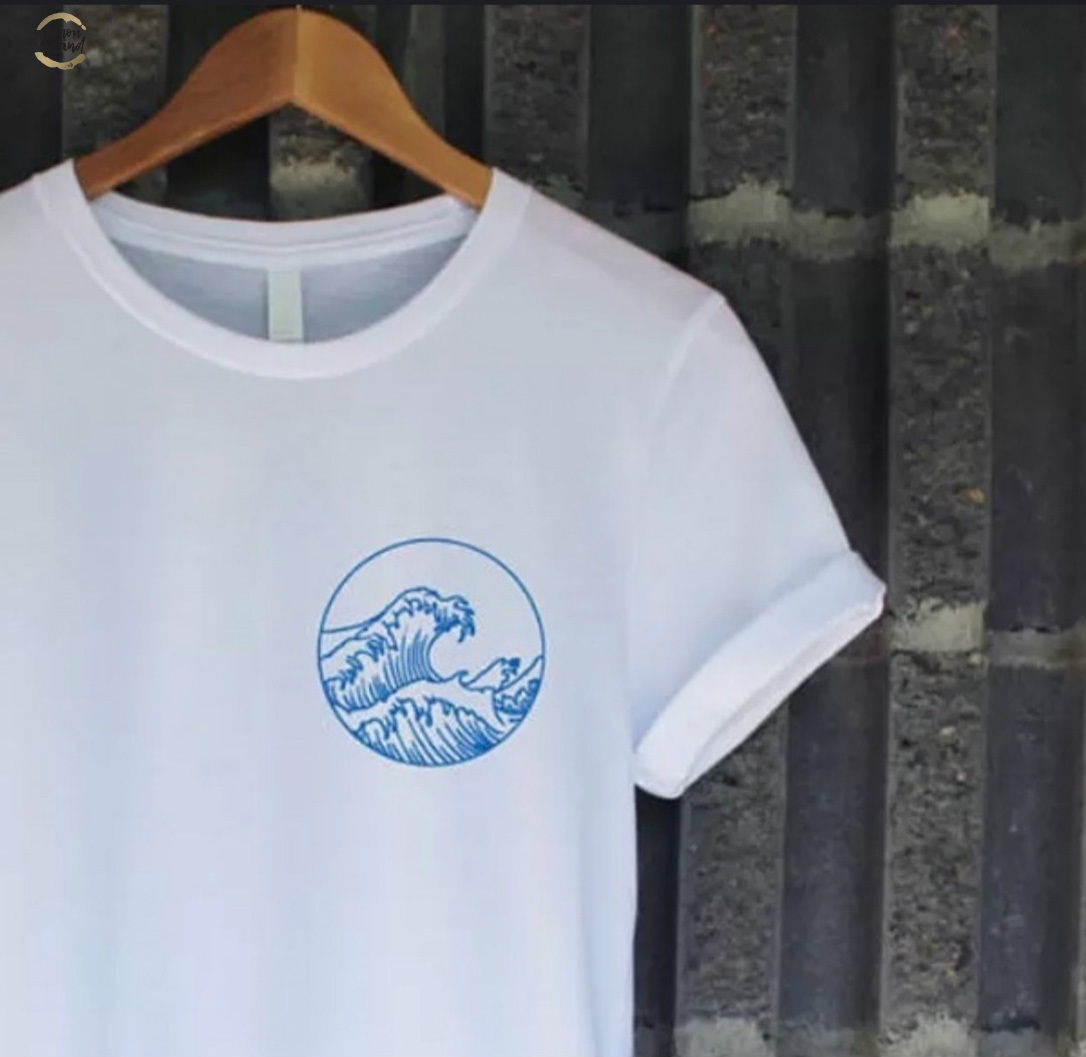 Printed T-Shirt,Hawaiian Sundown Ocean Fashion Personality Customization
