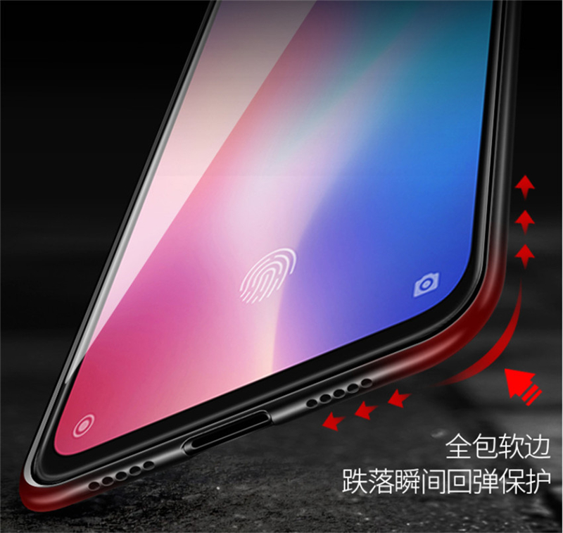 Aixuan Glass Case For Xiaomi mi 9 Mi9 Explorer Xiaomi mi 9 SE Case painted Tempered Glass Silicon Protective full Cover Cases (8)