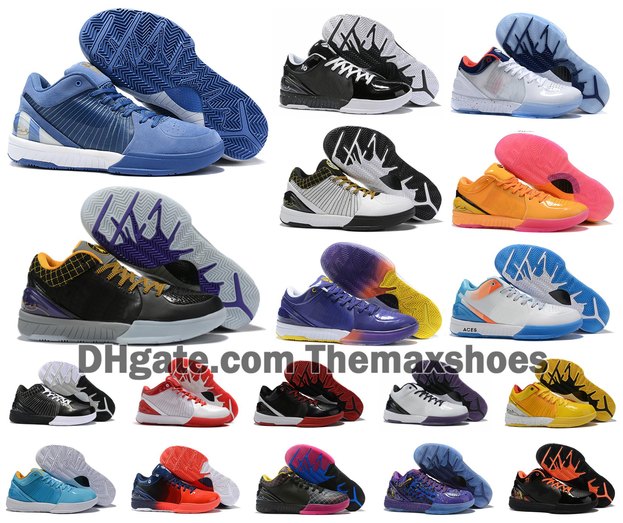 Hot Zoom Protro IV 4 KB Bryants le jour du repêchage Hornets Carpe Diem Del Sol Sport Basketball Chaussures Hommes ZK4 de Sneakers Taille de US7 12