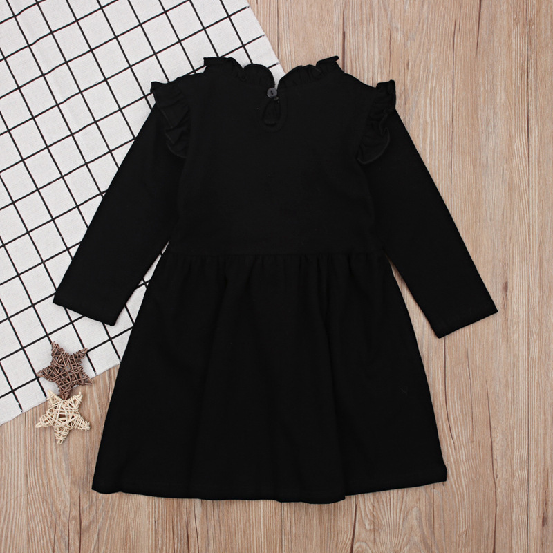In Long Sleeves Black Wedding Dresses For Girls Princess Cinderella Dress Fashion Baby Children Clothing