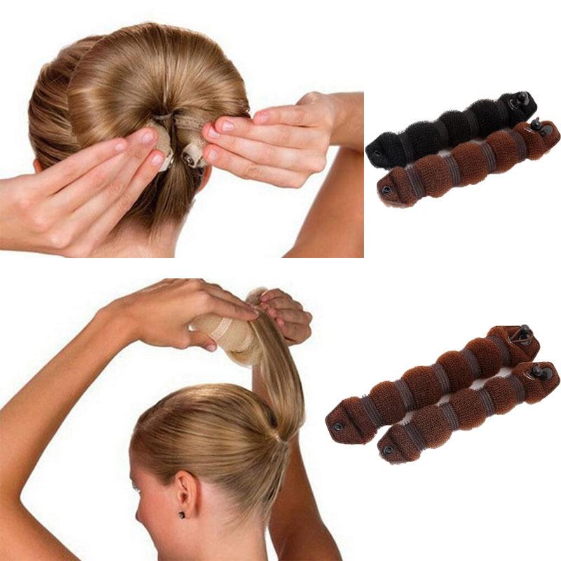 Femmes Fille Style Styling Outils Brioches Braiders Curling Chapeaux Corde Bande De Cheveux Accessoires