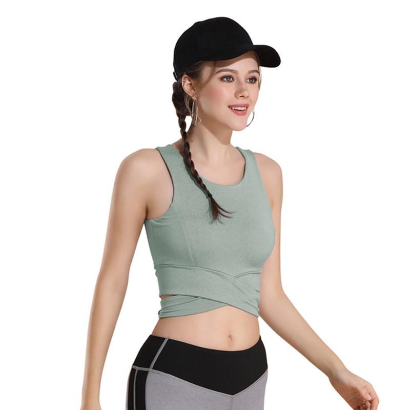 Damen Leopard Sport BH Unterwäsche Fitness Bra Freizeit Yoga Weste Crop Top