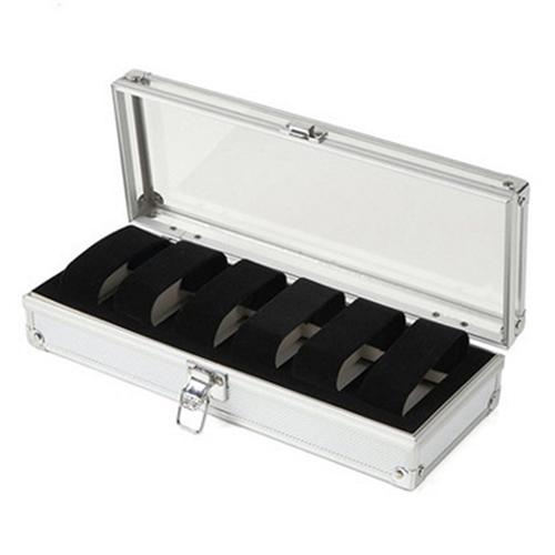 2018 High Quality Metal 6/12 Grid Slots Wrist Watch Display Box Storage Holder Organizer Watch Case Jewelry Dispay Watch Box