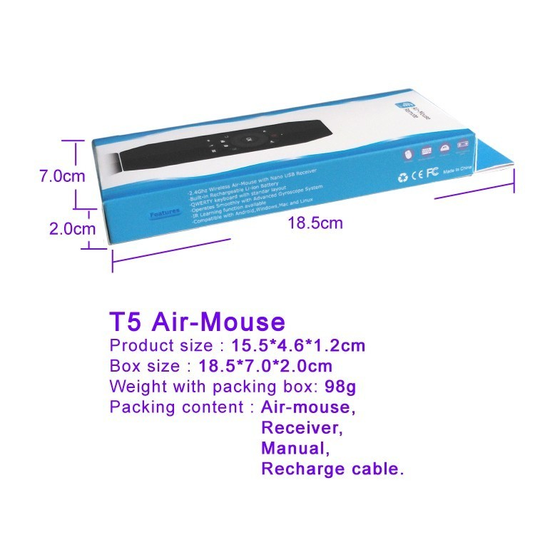 T5 box size