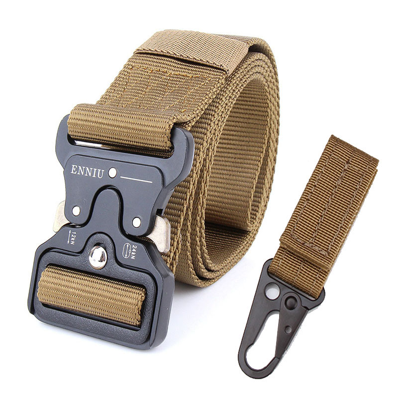 Tactical Belt Military Automatic Buckle Belt Training Waistbelt Molle Nylon Belt Men Combat Adjust Tactical Gear