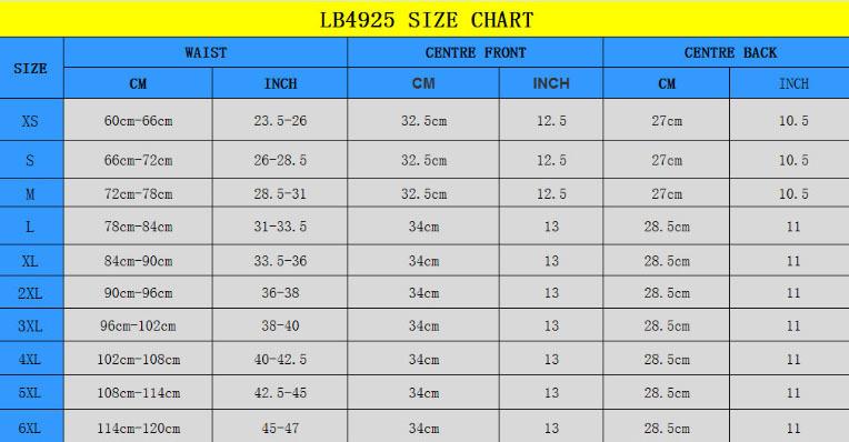 size chart new