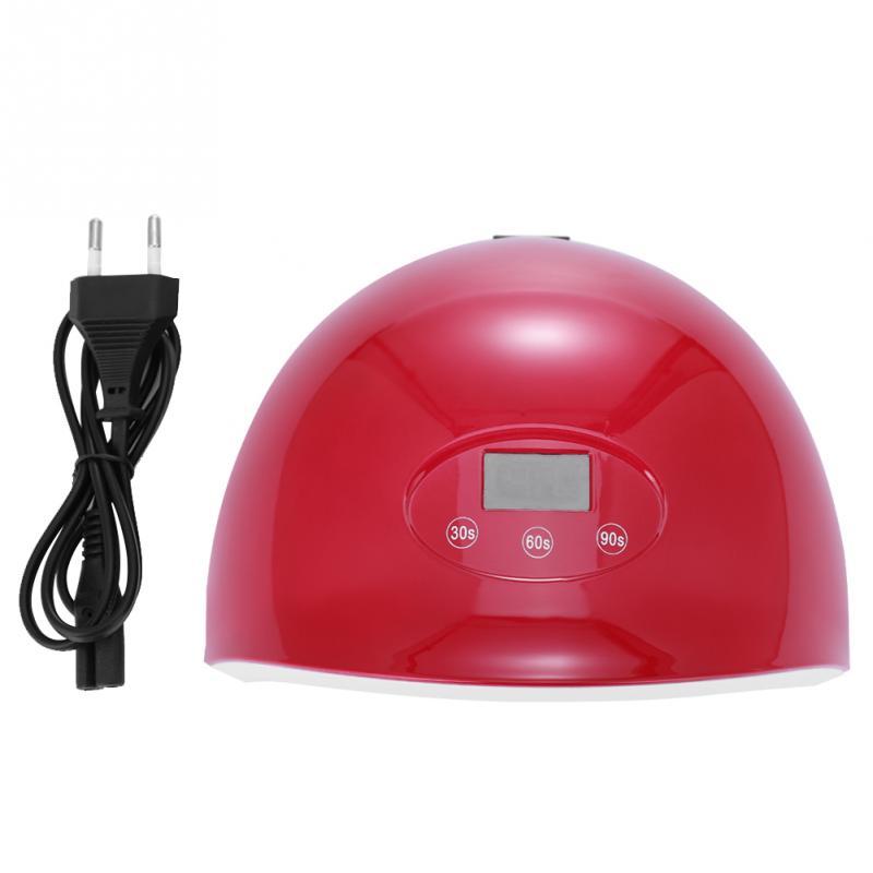 24W UV LED интеллектуальный дисплей сроки ногтей сушилка лампы ногтей инструменты для салона главная DIY 100-240V EU Plug