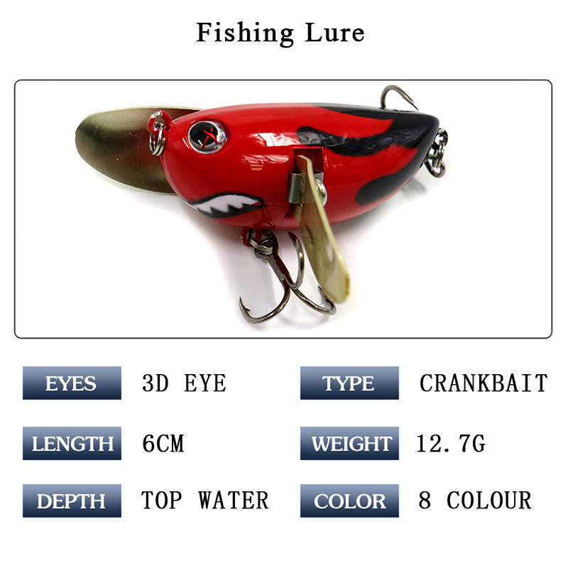 Tuya Topwater Fishing Lures Minnow Floating Top Water Crankbaits Wobblers Artificial Bait Popper Lure Whopper Plopper Hard Bait