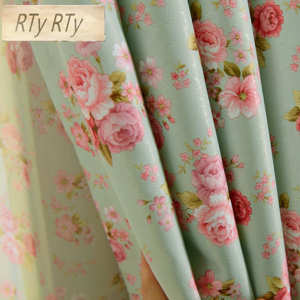 Rideaux Design Pour Chambre 1 pièce courte fenêtre rideaux pour chambre traitement draperie floral  design rustique occultation rideaux de tulle chambre de fille