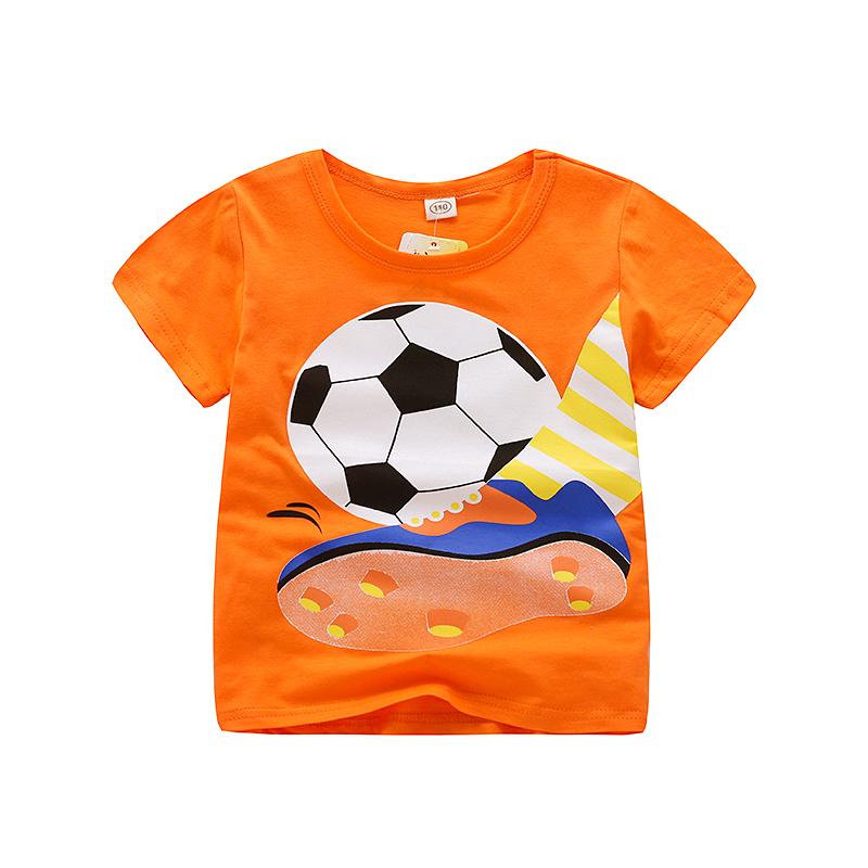 V-baum Sommer Baby Jungen T-shirt Cartoon Auto Druck Baumwolle Tops Tees T-shirt Für Jungen Kinder Kinder Outwear Kleidung Tops 2-8 Year2019