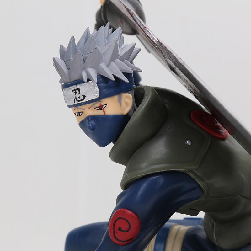 Anime Naruto Momochi Zabuza Kakashi Figures MegaHouse GEM Ninkai Taisen Decorati