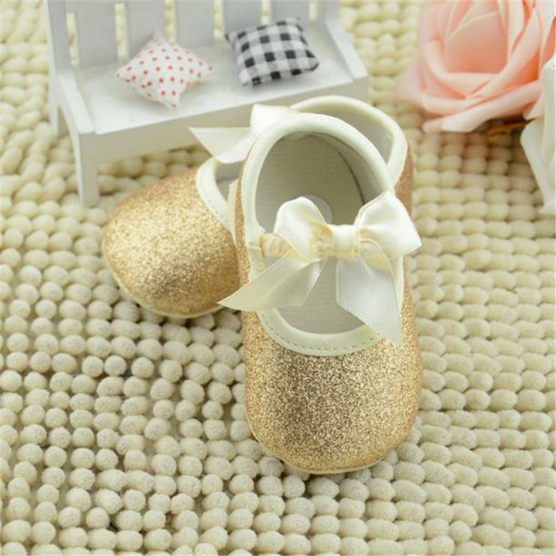 dbe1e04473 2019 Baby Shoes Glitter Sneaker Toddler Butterfly Knot Anti Slip Soft Sole  Shoes NDA84L17 From Westbit11, &Price; | DHgate.Com