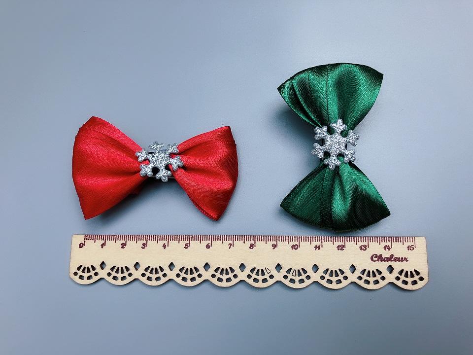Boutique Cute Ribbon Bow Hairpins Solid Bowknot Glitter Snowflake Hair Clips Fashion Hair Accessories Princess Headware