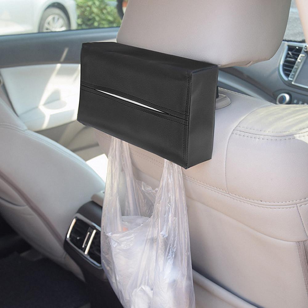 Forauto Universal Car Sun Visor Holder Pu Leather Tissue Box Cover Case For Paper Auto Organizer Accessories C19042101