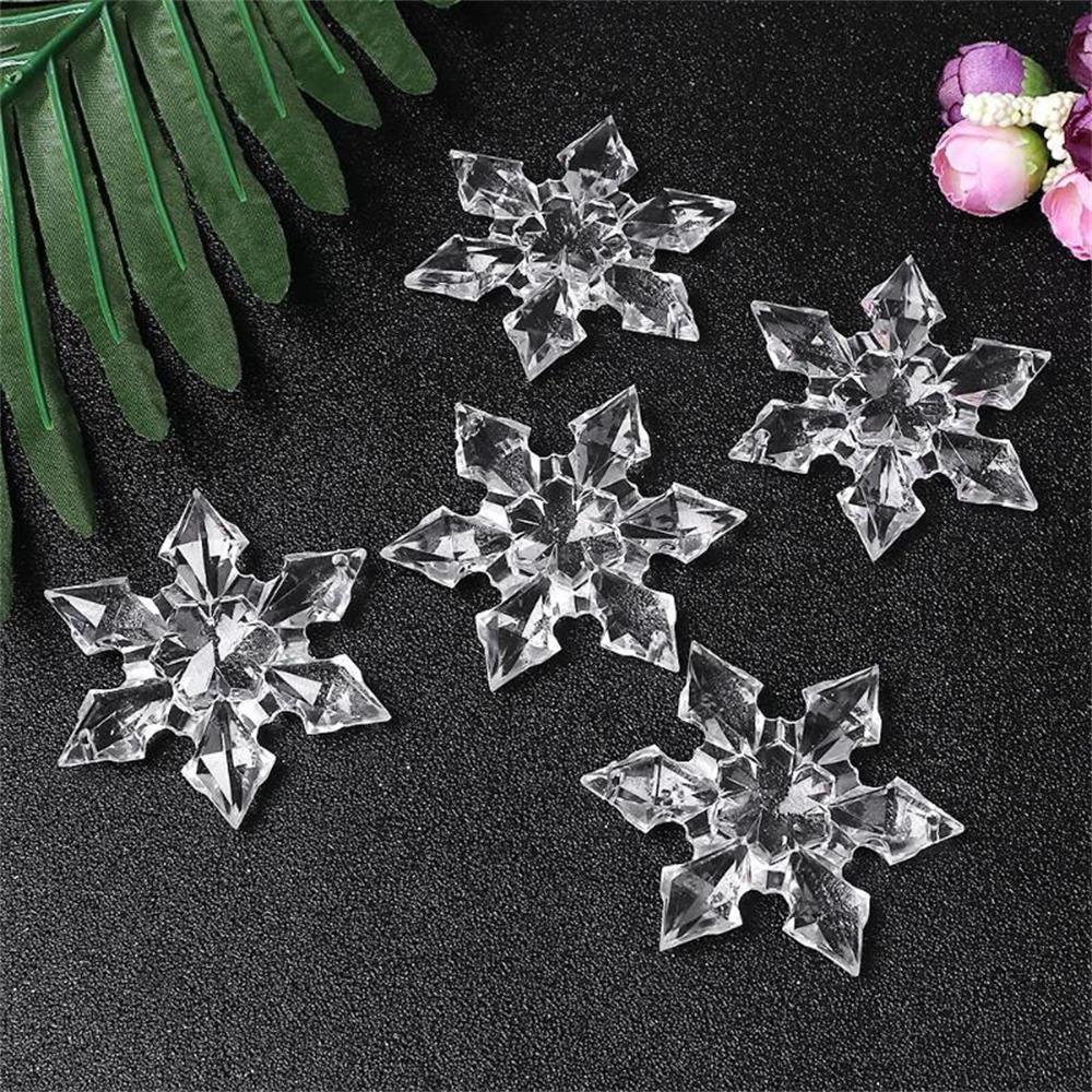 cristal transparent acrylique flocon de neige suspendu rideau de perles