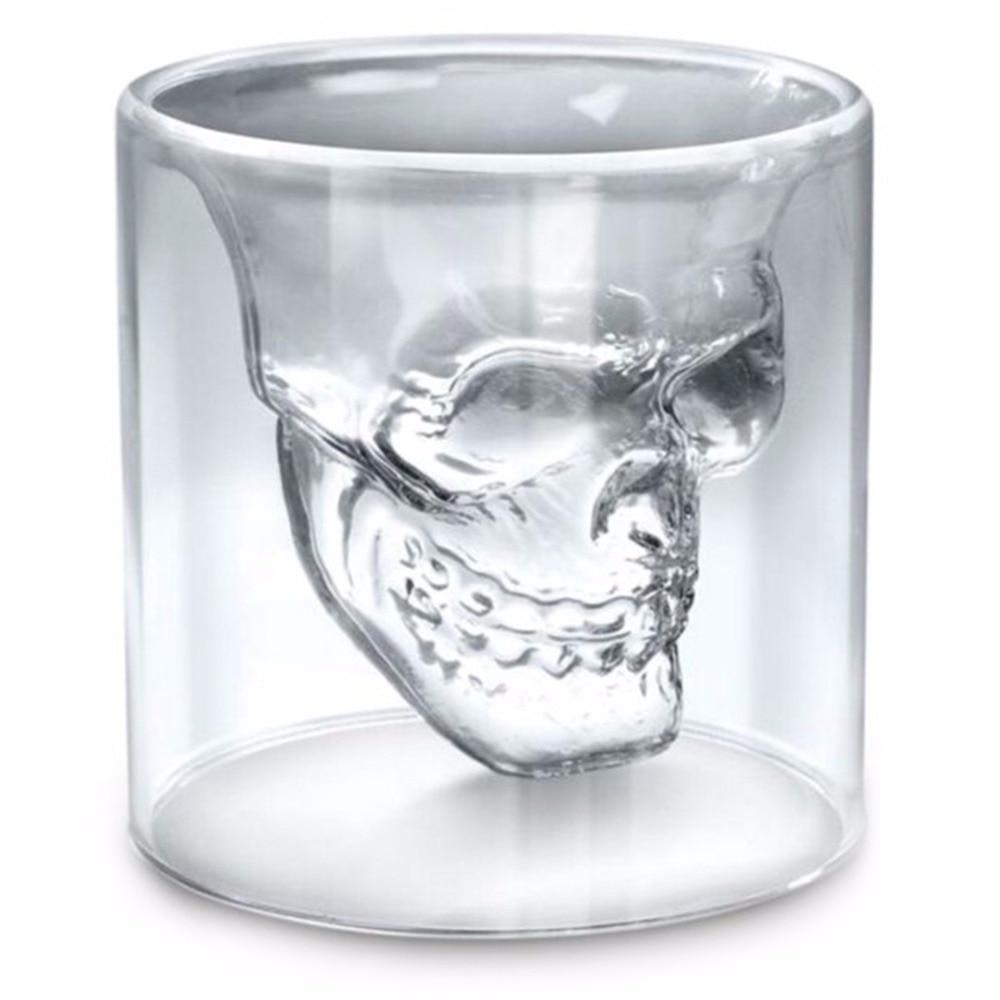 Cadılar bayramı Kafatası Çift Şeffaf Cam Bira Bardağı Ev Bar Bira Su ve Parti Otel Düğün Gözlük Hediye Için Drinkware