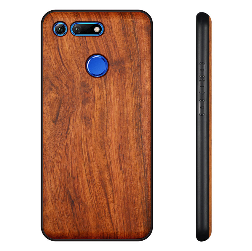 BOOGIC Original Wood Phone Case For Huawei Honor View 20 V20 V10 Wood +TPU Cover For Honor 8x Play 10 Ultra-Thin Wooden Coque (2)
