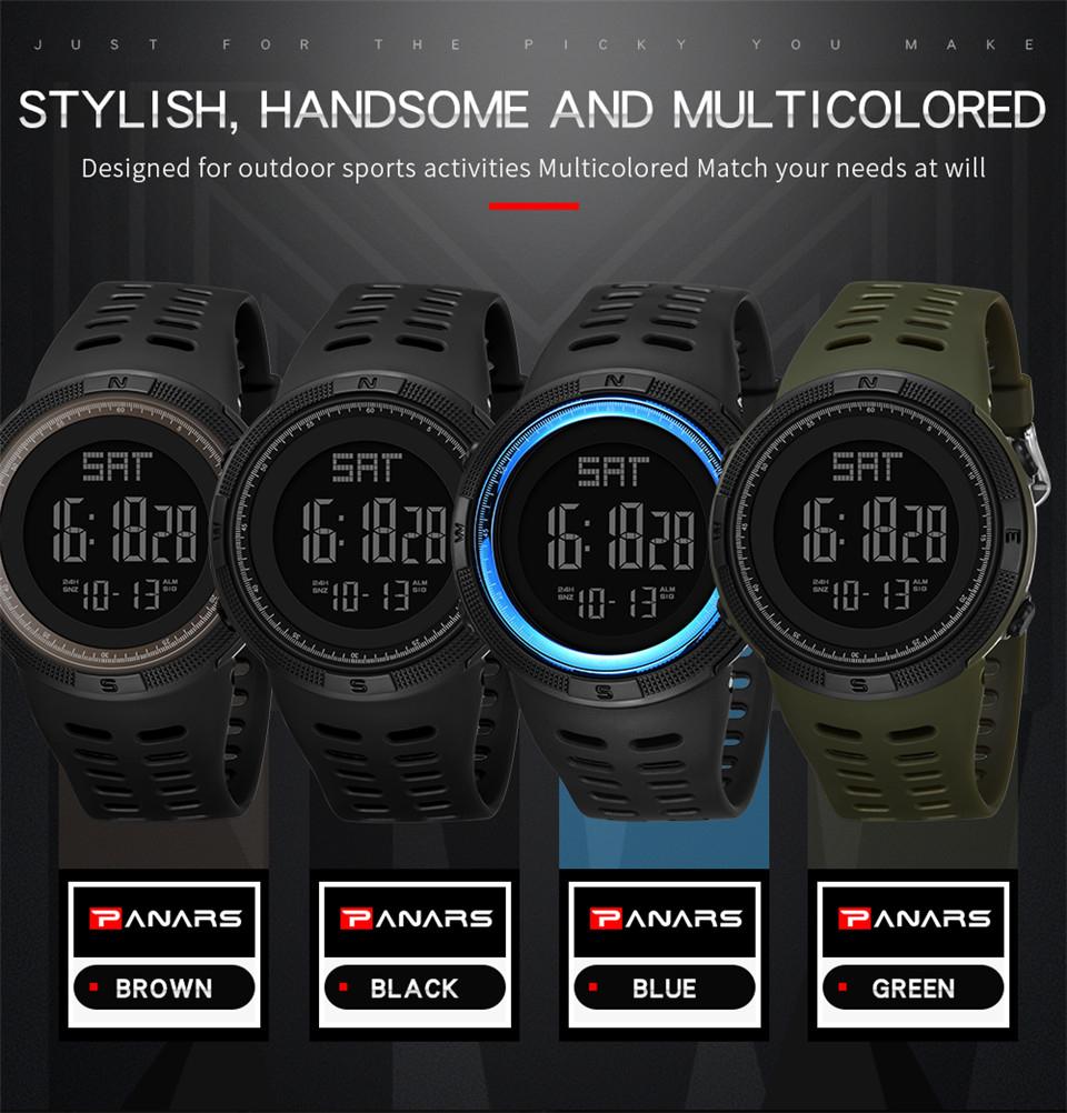 Sports Watch Men Digital Electronic Wrist Watch Waterproof LED Fitness Outdoor Watch For Running Chronograph Wristwatch Relojes (4)