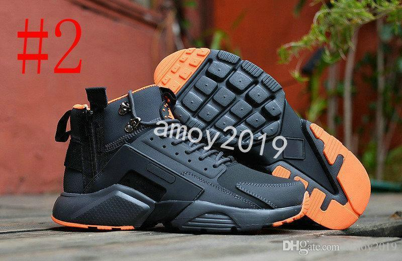 Lifestyle shoe New Air Huarache 6 X Acronym City Mid Leather High Top Huaraches Mens Shoes Men Huraches Hurache Size 40-45