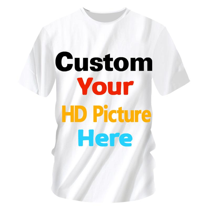 Customized t shirt your own designed Women Men Custom t shirt Print logo 3d Picture Tshirt Summer Short Sleeve Casual Tops Tees (1)