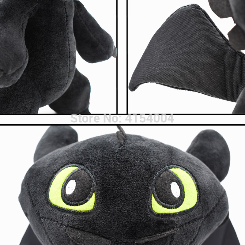 25 CM How to Train Your Dragon Toys Night Fury Toothless Dragon Stuffed Peluche Plush Toys Dolls Christmas Gift For Children