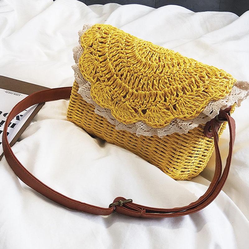 Women Lace Straw Bags INS Popular Female Holiday Handbag Summer Hot Lady Weave Shoulder Bag Travel Beach Casual Bolsa SS3150 (7)