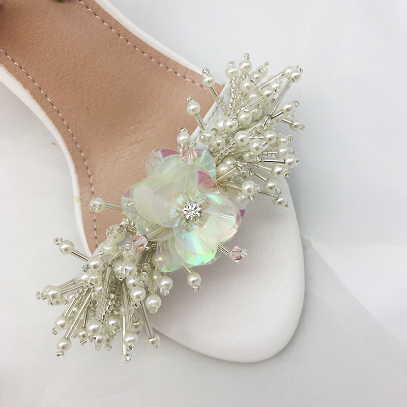 Fairy2019 String A Sandals Beads Design Paillette Flower Manual Make Wedding Banquet Princess Lady Of Quality Women's Shoes