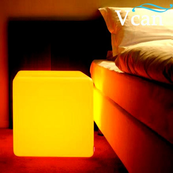 led light cube stool