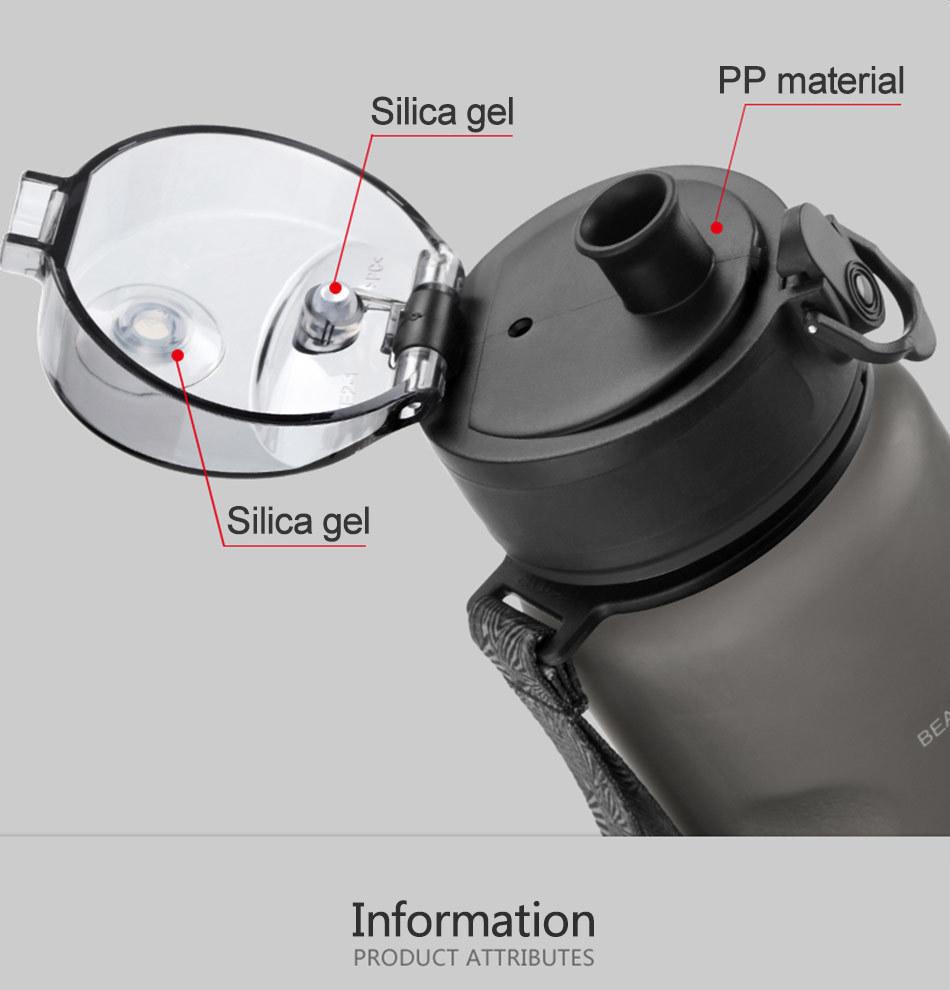 UZSPACE 0%BPA Plastic Sports Water Bottles Portable Travel Outdoor Cycling Drink Fruit protein Shaker My tea bottle 500ml 950ml_05
