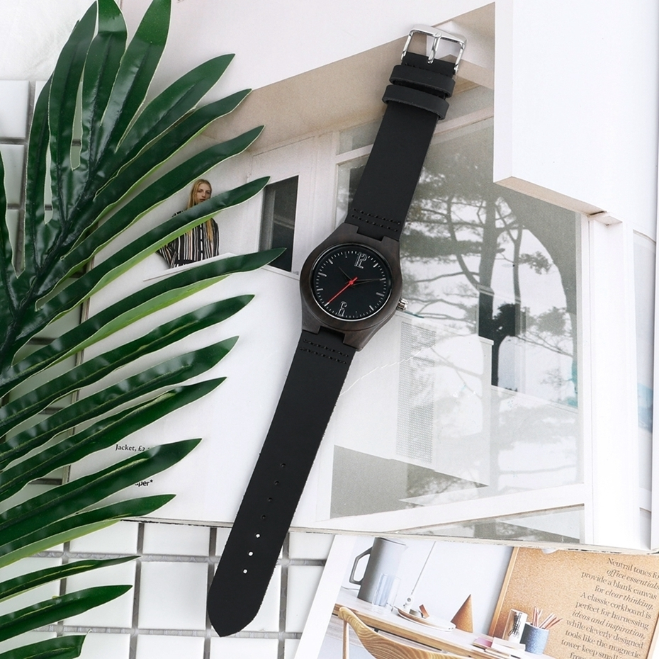 Lovers Gifts Luxury Royal Ebony Wood Watch Mens Fashion Wooden Women Dress Hour Clocks Soft Genuine Leather Relojes Wristwatches 2018 (32)