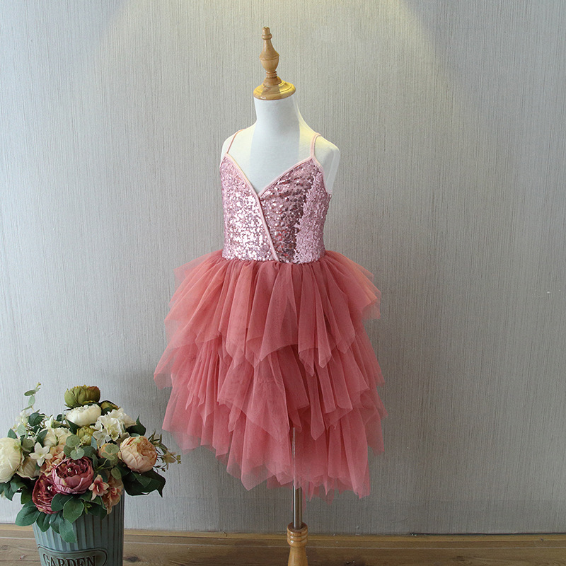 ACVIP Little Girls Ruffled Multi-Layered Birthday Party Tutu Tulle Skirt
