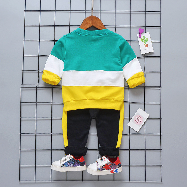 Spring Autumn Baby Girls Boys Clothing Sets Infant Casual Sport T-shirt Pants /sets Children Clothes Suits Cotton Tracksuits