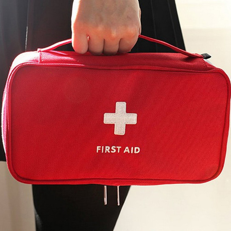 Travel Safety First Aid Kit Drug Portable Medical Case Travel Emergency Kit Large Size Travel Survival kit Empty bag