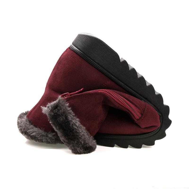 Winter Boots Women 2018 Zipper Ankel Boots For Women Wedges Ladies Casual Shoes Solid Snow Boots Bota Feminina hn89
