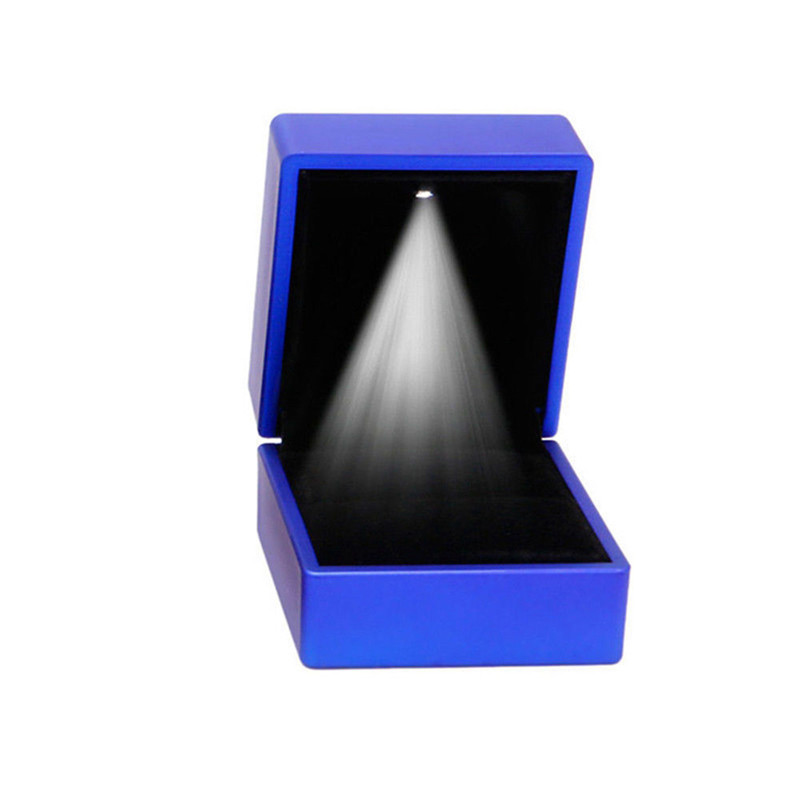 Luxury Jewelry Necklace Earring Ring Box Case Holder Gift with LED Light Wedding Engagement Ring Jewelry Display