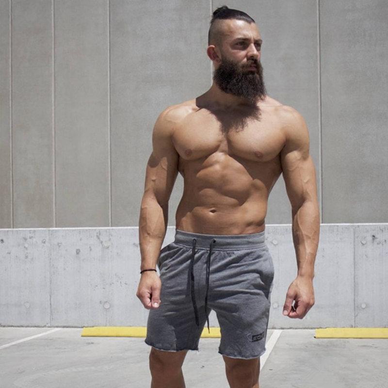 Hommes Running Sports Coton Shorts Gym Fitness Entraînement Formation Sportswear Mâle Pantalon Court Genou Longueur Plage Marque Pantalon De Survêtement T190710